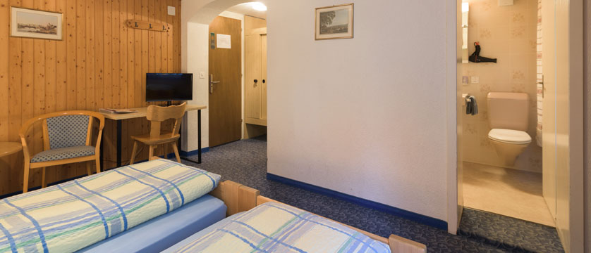 Hotel Jungfrau Lodge, Grindelwald, Bernese Oberland, Switzerland - main building bedroom.jpg